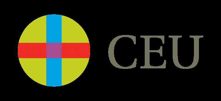 Logo de las Universidades CEU de color verde, azul, rojo y ocre con fondo transparente.