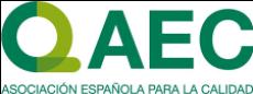 Logo de la Agencia Española para la Calidad (AEC) de color verde con fondo transparente.