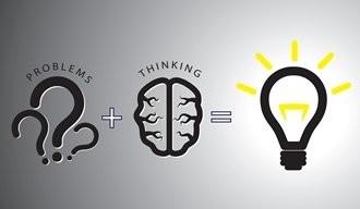 Combinación de problemas y pensamiento para encontrar una solución brillante.