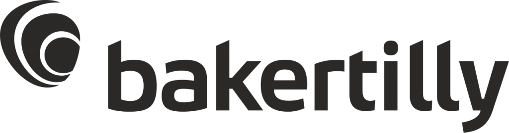 Logo de Bakertilly de color negro con fondo transparente.