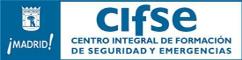 Logo del Centro Integral de Formación de Seguridad y Emergencias, color azul con fondo transparente.