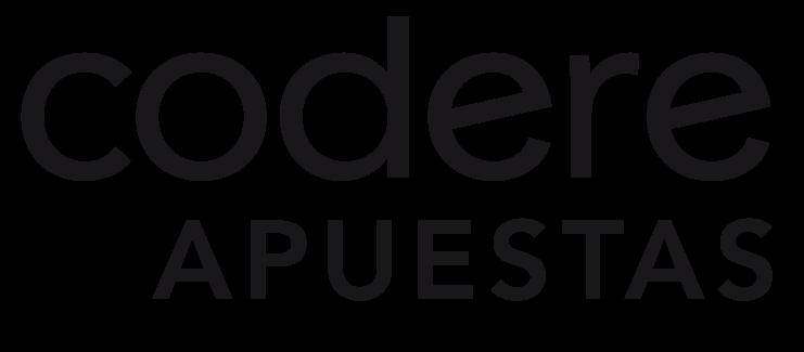 Logo de CODERE apuestas de color negro con fondo transparente.