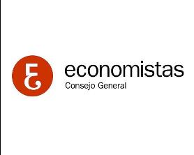 Logo del Consejo General de Economistas, color rojo y negro con fondo transparente.