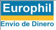 Logo de Europhil de color azul y amarillo con fondo transparente.