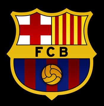 Logo del Fútbol Club Barcelona con un fondo transparente.