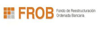 Logo del Fondo de Reestructuración Ordenada Bancaria de color naranja y negro con fondo transparente.
