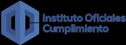 Logo del Instituto Oficiales Cumplimiento de color azul con fondo transparente.