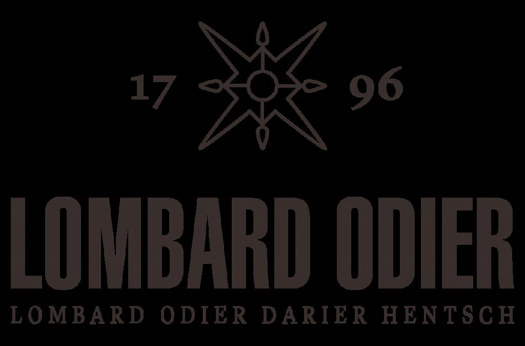 Logo de Lombard Odier Darier Hentsch de color negro con tono marrón y fondo transparente.