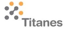Logo de Titanes de color gris, con toques naranjas y con fondo transparente.