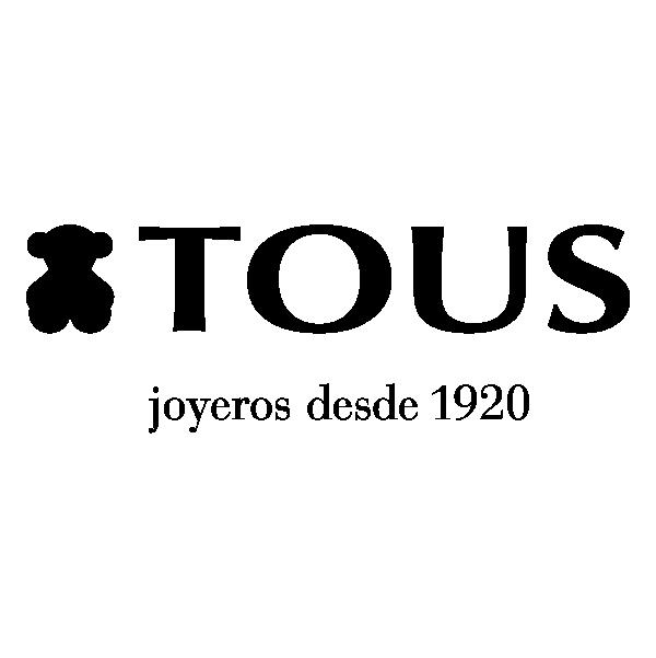 Logo de Tous, de color negro escrito Joyeros desde 1920 y con fondo transparente.