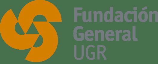 Logo de la Fundación General de la Universidad de Granada de color naranja con fondo transparente.