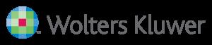 Logo de Wolters Kluwer de color gris, azul, verde y rojo con fondo transparente.