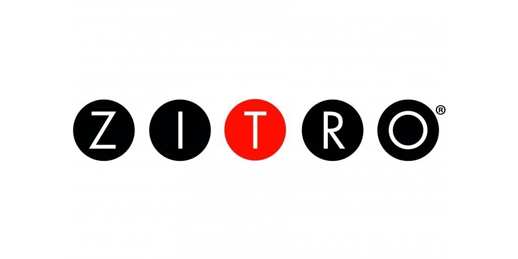 Logo de XITRO de color negro y rojo con fondo transparente.