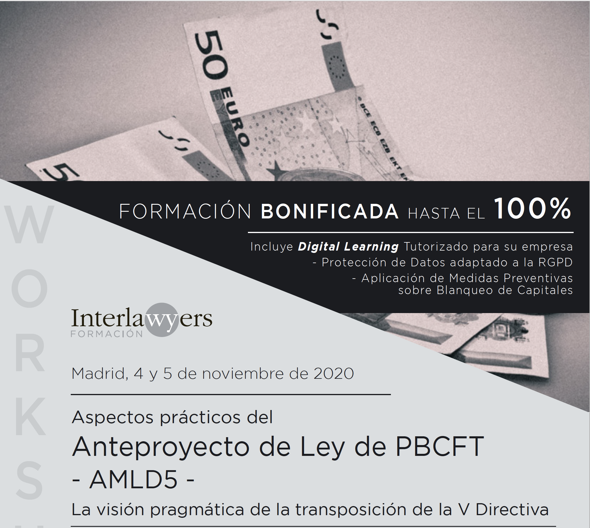 Flyer del evento Compliance en Madrid el 4 y 5 de Noviembre