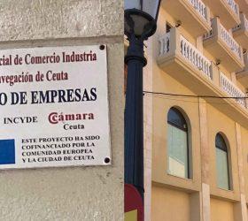 Imagen de una calle de ceuta en la que se ve un cartel que pone